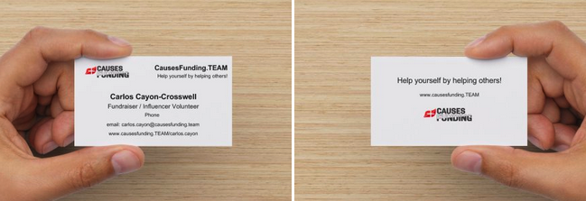 CausesFunding.TEAM Business Cards