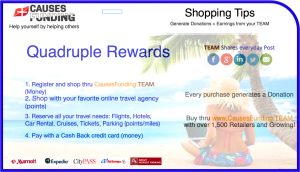 Shopping Tips - Quadruple Rewards